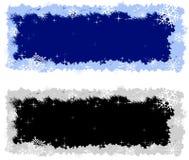 Bandeiras do inverno de Grunge com gelo e neve Fotografia de Stock