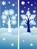 Bandeiras do inverno do vetor Foto de Stock