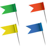 Bandeiras do mapa Fotos de Stock