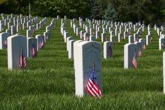 Bandeiras do Memorial Day imagem de stock