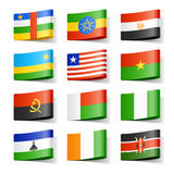 Bandeiras do mundo. África. Fotografia de Stock