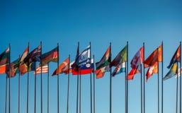 Bandeiras do mundo Fotografia de Stock Royalty Free