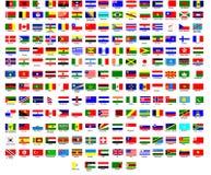 Bandeiras do mundo Fotos de Stock Royalty Free