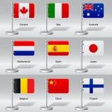 Bandeiras do mundo Fotografia de Stock