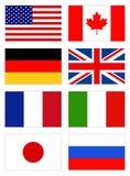 Bandeiras do mundo Foto de Stock Royalty Free