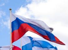Bandeiras nacionais do país diferente Fotografia de Stock Royalty Free