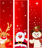 Bandeiras do Natal Fotos de Stock