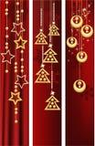 Bandeiras do Natal ilustração royalty free