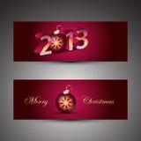 Bandeiras do Natal Foto de Stock