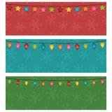 Bandeiras do Natal Fotografia de Stock