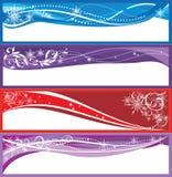 Bandeiras do Natal Fotos de Stock Royalty Free