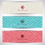 Bandeiras do Natal do Grunge Fotografia de Stock Royalty Free