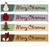 Bandeiras do Natal do vintage Fotografia de Stock Royalty Free