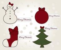 Bandeiras do Natal do vintage Imagens de Stock Royalty Free