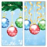 Bandeiras do Natal e do ano novo Fotografia de Stock Royalty Free
