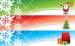 Bandeiras do Natal - ilustração Fotografia de Stock Royalty Free