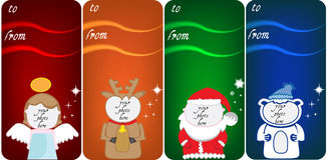 Bandeiras do Natal para fotos Imagens de Stock Royalty Free