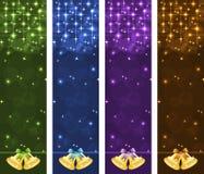 Bandeiras do Natal verticais Foto de Stock