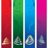 Bandeiras do Natal, vetor Fotografia de Stock