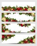 Bandeiras do Natal Vetor EPS-10 Imagem de Stock Royalty Free