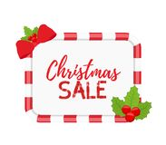 Bandeiras do Natal do vetor para a venda com azevinho ilustração do vetor