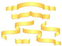 Bandeiras do ouro Ilustração Stock
