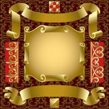 Bandeiras do ouro Fotografia de Stock Royalty Free