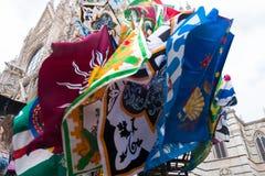 Bandeiras do palio em Siena Fotografia de Stock