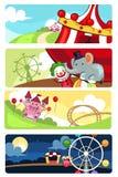 Bandeiras do parque de diversões Fotografia de Stock
