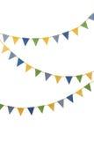 Bandeiras do partido da estamenha isoladas no branco Foto de Stock Royalty Free
