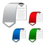 bandeiras do produto de vetor para o Web Fotos de Stock Royalty Free