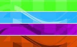 Bandeiras do projeto Imagem de Stock Royalty Free