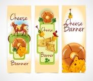 Bandeiras do queijo verticais Foto de Stock