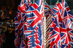 Bandeiras do Reino Unido Fotografia de Stock Royalty Free