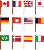 Bandeiras do sanduíche ilustração stock