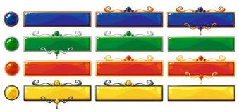 Bandeiras do título do vetor ajustadas Fotografia de Stock Royalty Free