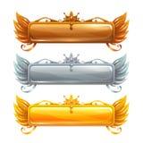 Bandeiras do título do vetor dos desenhos animados ajustadas ilustração royalty free
