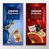 Bandeiras do teatro ajustadas Fotografia de Stock Royalty Free