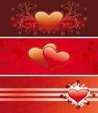 Bandeiras do Valentim Imagens de Stock Royalty Free