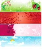 Bandeiras do verão Imagens de Stock