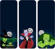 Bandeiras do vertical dos monstro de Halloween Fotografia de Stock Royalty Free