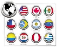 Bandeiras do vetor Foto de Stock