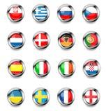 Bandeiras do vetor Fotografia de Stock Royalty Free