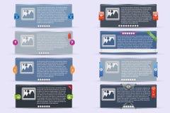 bandeiras do vetor 3D Fotos de Stock