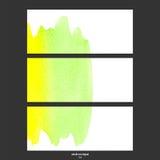 Bandeiras do vetor com verde e amarelo da aquarela Foto de Stock Royalty Free