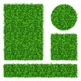 Bandeiras do vetor da grama verde ajustadas Fotografia de Stock Royalty Free
