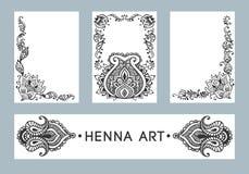 Bandeiras do vetor da hena Imagens de Stock