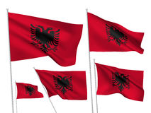 Bandeiras do vetor de Albânia Ilustração do Vetor