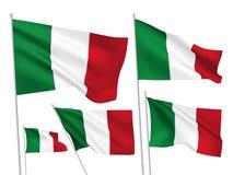 Bandeiras do vetor de Itália Fotografia de Stock