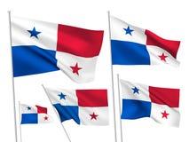 Bandeiras do vetor de Panamá Ilustração Stock
